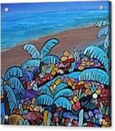 Santa Barbara Beach Acrylic Print by Barbara St Jean