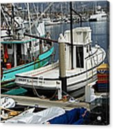 Santa Barbara Fishing Boats Acrylic Print