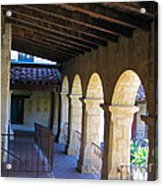 Santa Barbara Mission Cloister Acrylic Print