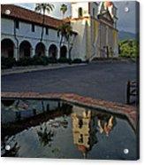 Santa Barbara Mission Reflections Acrylic Print