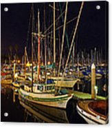 Santa Barbata Harbor Color Acrylic Print