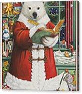 Santa Bear Acrylic Print