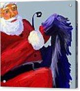 Santa Blue Acrylic Print