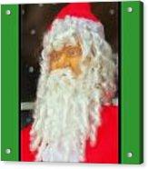 Santa Christmas Card Acrylic Print