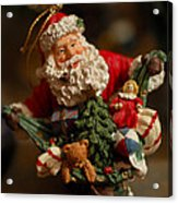 Santa Claus - Antique Ornament - 04 Acrylic Print