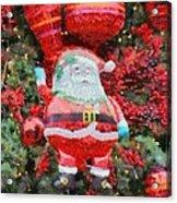 Santa Claus Balloon Acrylic Print