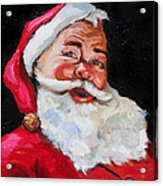 Santa Claus Acrylic Print by Carole Foret