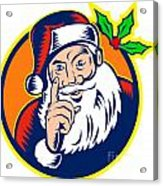 Santa Claus Father Christmas Retro Acrylic Print