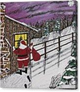 Santa Claus Is Watching Acrylic Print