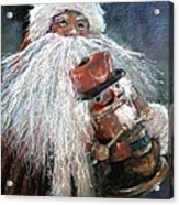 Santa Claus St Nick And The Nutcracker Acrylic Print