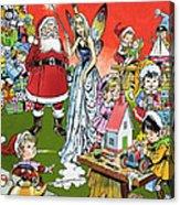 Santa Claus Toy Factory Acrylic Print by Jesus Blasco