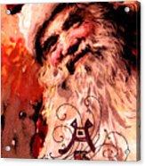 Santa Clause Vintage Poster A Joyful Christmas Acrylic Print