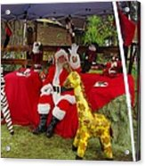 Santa Clausewith The Animals Acrylic Print