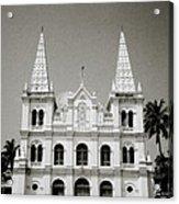 Santa Cruz Basilica In Cochin Acrylic Print