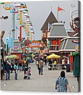 Santa Cruz Beach Boardwalk California 5d23625 Acrylic Print by Wingsdomain Art and Photography