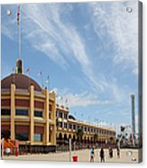 Santa Cruz Beach Boardwalk California 5d23748 Acrylic Print by Wingsdomain Art and Photography