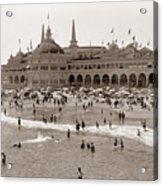 Santa Cruz Beach From Pleasure Pier  California Circa 1908 Acrylic Print