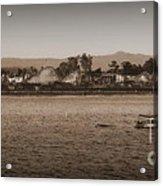 Santa Cruz Boardwalk Sepia 2 Acrylic Print