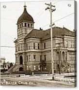 Santa Cruz High School On Walnut Street. Circa 1910 Photo By Besaw Acrylic Print