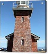 Santa Cruz Lighthouse Surfing Museum California 5d23944 Acrylic Print by Wingsdomain Art and Photography