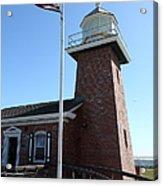 Santa Cruz Lighthouse Surfing Museum California 5d23948 Acrylic Print by Wingsdomain Art and Photography