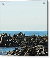 Santa Cruz Lighthouse Wide Acrylic Print