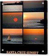 Santa Cruz Sunset  Acrylic Print by AJ  Schibig