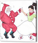 Santa Dances Acrylic Print