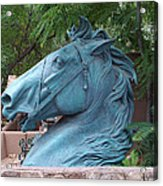 Santa Fe Big Blue Horse Acrylic Print