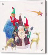 Santa Gets Ready Acrylic Print
