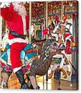 Santa Go Round Acrylic Print