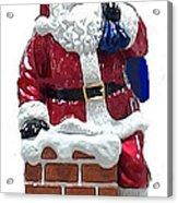 Santa Greeting Card Acrylic Print