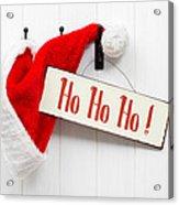 Santa Hat And Sign Acrylic Print