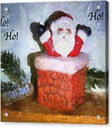 Santa Ho Ho Ho Photo Art Acrylic Print