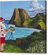 Santa In Kahakuloa Maui Acrylic Print