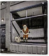 Santa In Window Acrylic Print