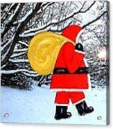 Santa In Winter Wonderland Acrylic Print