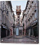 Santa Justa Lift In Lisbon Acrylic Print