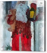 Santa Merry Christmas Photo Art 02 Acrylic Print