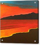 Santa Monica Beach And Mountains Acrylic Print
