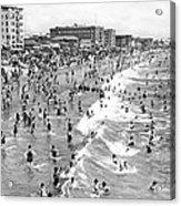 Santa Monica Beach In December Acrylic Print