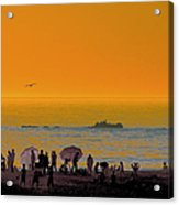 Santa Monica Beach Sunset Acrylic Print