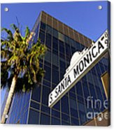 Santa Monica Blvd Sign In Beverly Hills California Acrylic Print