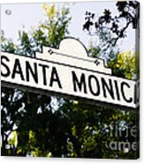 Santa Monica Blvd Street Sign In Beverly Hills Acrylic Print by Paul Velgos