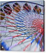 Santa Monica Pier Ferris Wheel At Dusk Acrylic Print