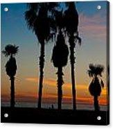 Santa Monica Sunset Acrylic Print