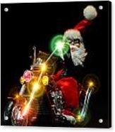 Santa Motoring Acrylic Print