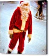 Santa On Ice Acrylic Print