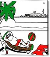 Santa On Vacation Acrylic Print
