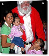 Santa Poses With Fans At Annual Christmas Parade Eloy Arizona 2004 Acrylic Print
